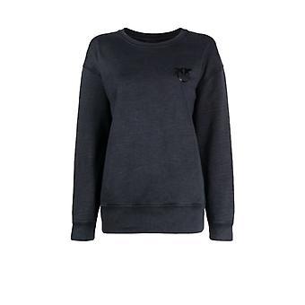 Pinko Sano Black Cotton Sweatshirt