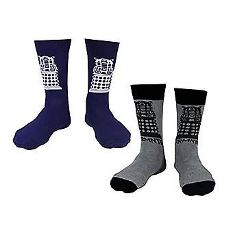 Men's Doctor Who Dalek Assorted Socks (2 Pairs)
