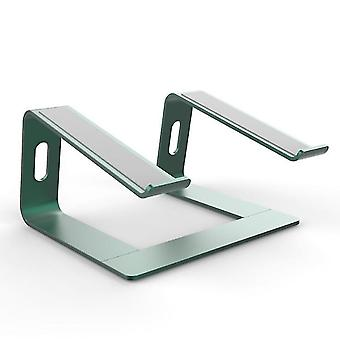 Vihreä kannettavan tietokoneen jalusta - kannettavan tietokoneen nousuteline työpöydälle - alumiininen ergonominen kannettava tietokone holde x6546