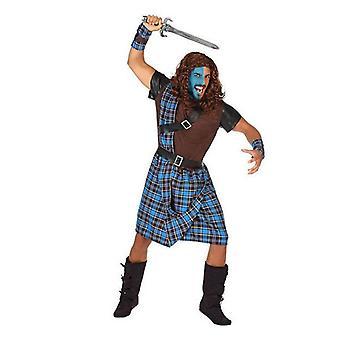 Costume per adulti scozzese uomo blu (5 pezzi)