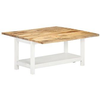 Couchtisch erweiterbar 90X(45-90)X45 Cm Solid Mango Holz weiß