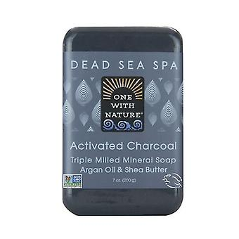 One with Nature Triple Milled Mineral Soap, Activated Charcoal 7 Oz