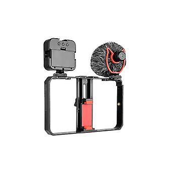Vlogging kit telefono kit video accessori riempire luce microfono stabilizzatore ptz per registrazione video telefono per youtube vlog