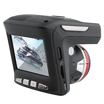 2-En-1 2.4 pulgadas 720p coche dvr cámara radares detector velocímetro grabador de vídeo 140 grados lente accesorios electrónicos de coche