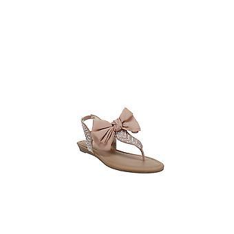 Material Girl | Swan Flat Thong Sandals