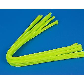 10 Lime Green 9mm Paksu Extra Long 50cm Putkenpuhdistusaineet | Chenille Varret