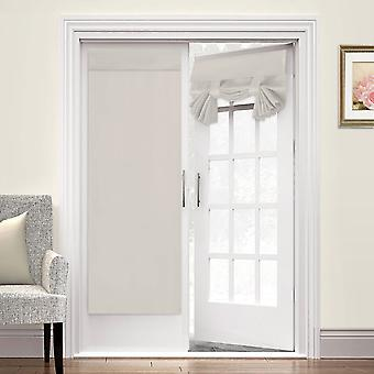2X french door curtains thermal insulated door panel privacy door shade tricia curtain for door window curtains, cream