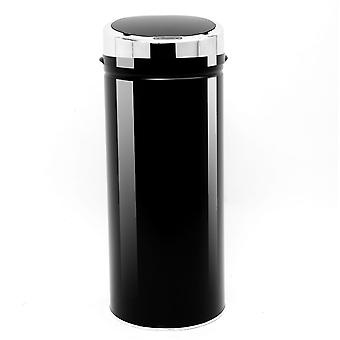 HOMCOM 42L Sensor Bin for Kitchen Waste Automatic Dustbin Motion Detection Dustbin  Stainless Steel Rubbish Can with Bucket, Black