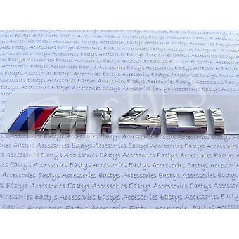 Kromattu BMW M140i Kirjeet Taka boot kansi Runko Tunnus 1 Sarja E81 E82 E87 E88 F20 F21 F52 F40 170mm x 20mm