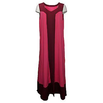 Cuddl Duds Dress Flexwear Sweetheart Neck Maxi Pink A373766
