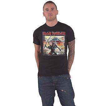 Iron Maiden T Shirt Senjutsu Album Palace Square Logo nouveau Officiel Mens Noir