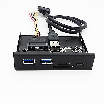 Card Reader Usb Front Panel Media Type-c Dual Pc
