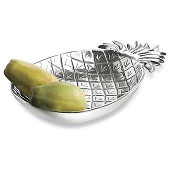 Silver Tropical Pineapple Shaped Serving Bowl