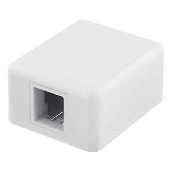 DELTACO Aufputzsteckdose für Keystone, 1 Port, weiß