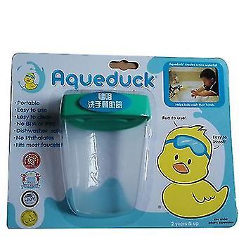 9.8 * 7.5Cm شفافة خضراء الكرتون duckbill الأطفال صنبور الموسع الطفل غسل اليدين