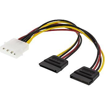 DELTACO Y cable de alimentación para discos duros de 2xSerial ATA
