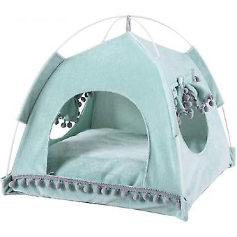 Animal Tent With Windows And Doors, Easy To Assemble, Easy To Store And Clean (green)