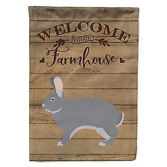 Flags windsocks giant chinchilla rabbit welcome flag canvas house size