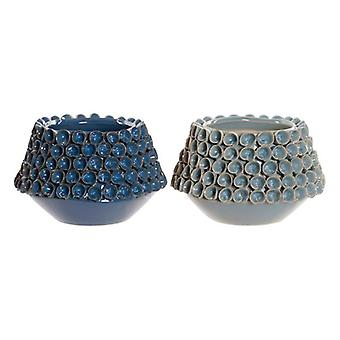 Vase DKD Home Decor Stoneware Mediterranean (2 pcs) (20 x 20 x 13 cm)