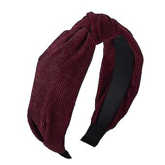 Solid colors satin knotted hairbands(Maroon)