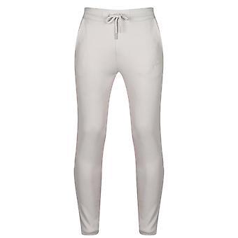 Fabric Men Slim Jogging Pants Elasticated Waistband Lightweight 2 Pockets Bottom
