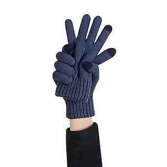 Strickwaren Aus Wolle Kältebeständige Handschuhe Dunkelgrünes Eschenblatt