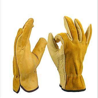 Warm Gloves, Winter Gloves, Garden Gloves, Sports Gloves, Work Gloves, Outdoor Riding Gloves, Gardening Gloves, Golden Yellow Xl