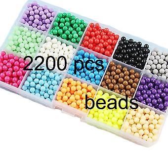 Perles d'eau Set de bricolage Boîte de perles Pegboard Kit de jeu de repassage Accessoires Enfants Designer Jouets Pour Filles Enfants Cadeau 8 10 Ans