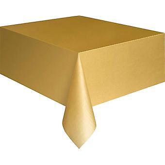 Kultainen muovinen pöytäliina