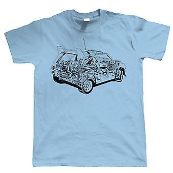 Diagramme de Metro 6R4, T-shirt de voiture de rallye de mens, cadeau pour l'anniversaire de papa