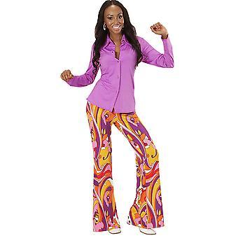 Kobiety stroje dzieci fioletowy disco koszula dla pań