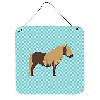 Poney Shetland cheval bleu cocher mur ou une porte suspendue imprime