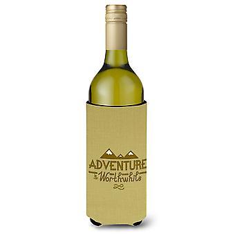 Aventura es que vale la pena vino botella Beverge aislador Hugger