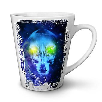 Skull Mars Being NEW White Tea Coffee Ceramic Latte Mug 12 oz | Wellcoda