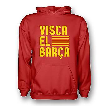 VISCA El Barca Hoody (rot) - Kids
