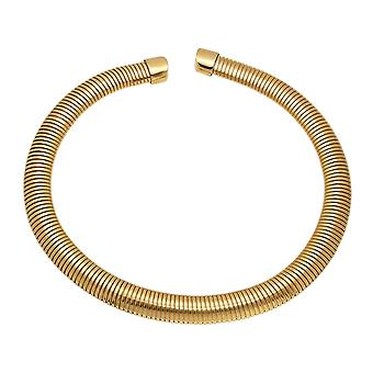 Ladies 18K Gold Plated Stainless Steel Omega Necklace