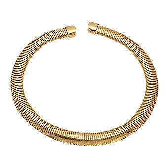 Omega-installatie halsketting 18K goud vergulde roestvrij staal