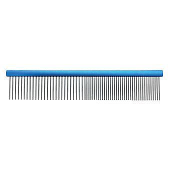 Groom Professional Spectrum Aluminium Comb 50/50 Light Blue 19cm (Short Teeth)