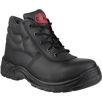 Centek Mens FS30C Leather S3 Work Safety Boot Black