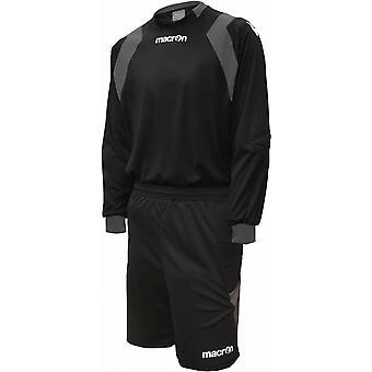 Macron Padded Goalkeeper Shirt & Shorts (Black)