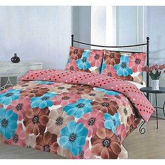Sophia Printed Floral Duvet Quilt Cover Bedding Set