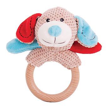 Bigjigs Toys Plush Bruno Ring Rattle Hand Cot Pram Toys