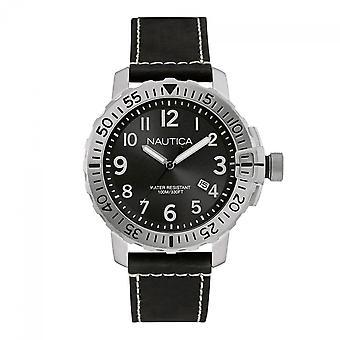 Nautica mens watch NAD14522G reloj de pulsera cuero