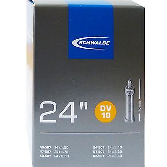 SCHWALBE DV 10 bicicleta tubo 24 ″