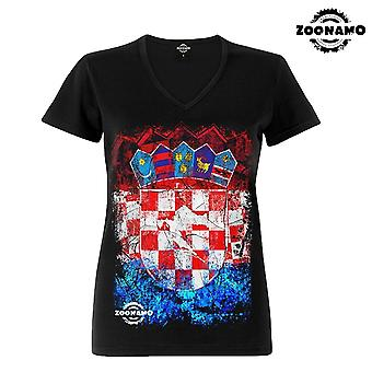 Zoonamo T-Shirt ladies classic for Croatia