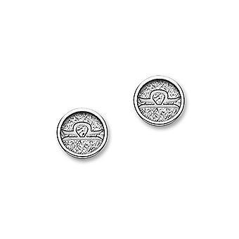 Zodiaco astrología contemporánea tradicional de plata diseño signo par de pendientes - E1848
