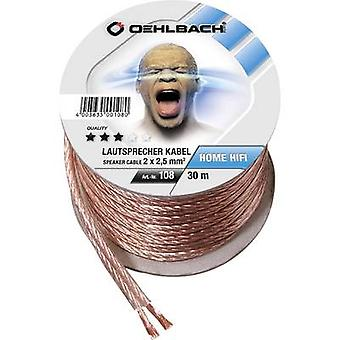 Oehlbach 108 Speaker cable 2 x 2.50 mm² Transparent 30 m