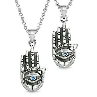 Alle ser følelsen Buddha øye kjærlighet par beste venn amuletter kongeblå anheng halskjede