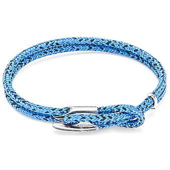 Horgony és a legénység Padstow Silver és a Rope karkötő-kék Noir
