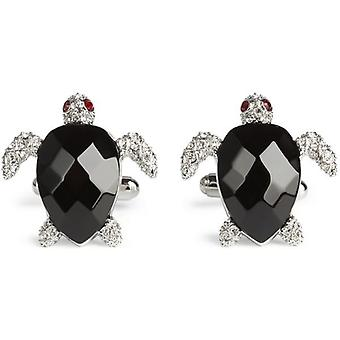Simon Carter Darwin Turtle Cufflinks - Black